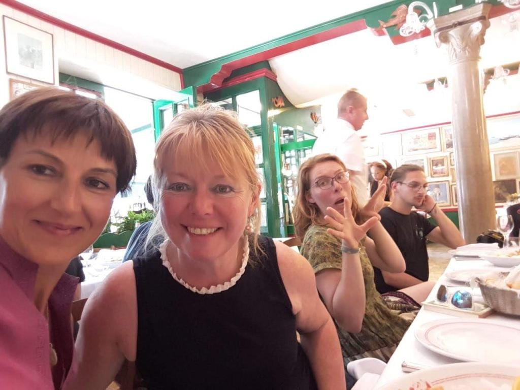 Burano - Da Romano Trattoria with Lara and Lucy