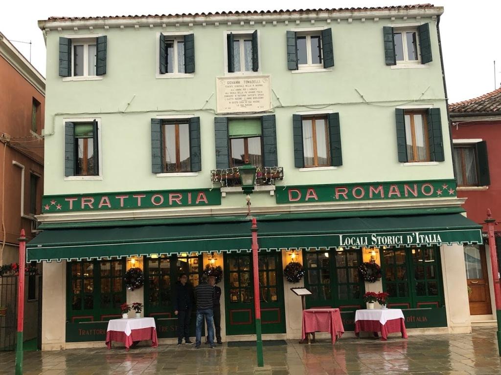 Da Romano is a landmark trattoria on the island of Burano