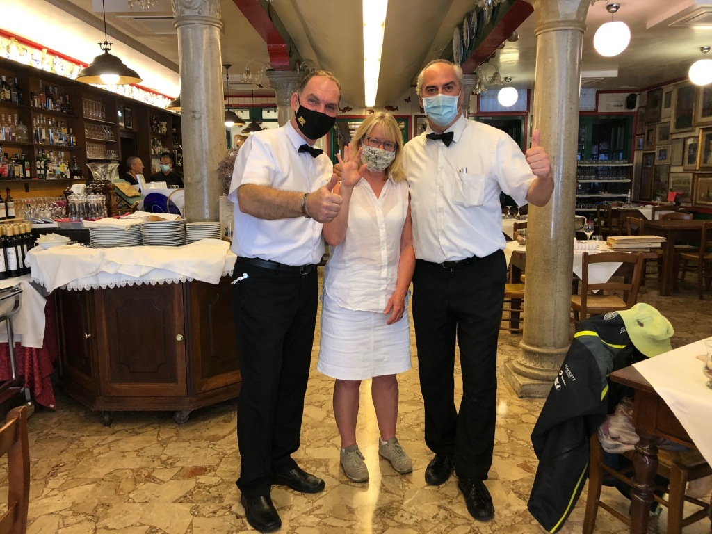 Burano - Da Romano the waiters have all been at Da Romano for years