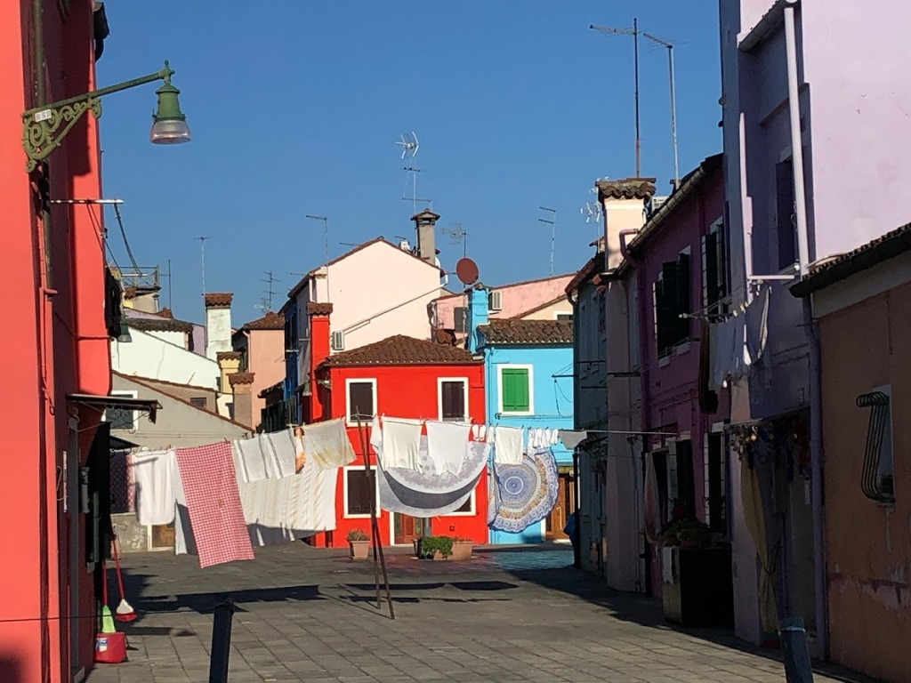 Burano - colourful houses, line the canals
