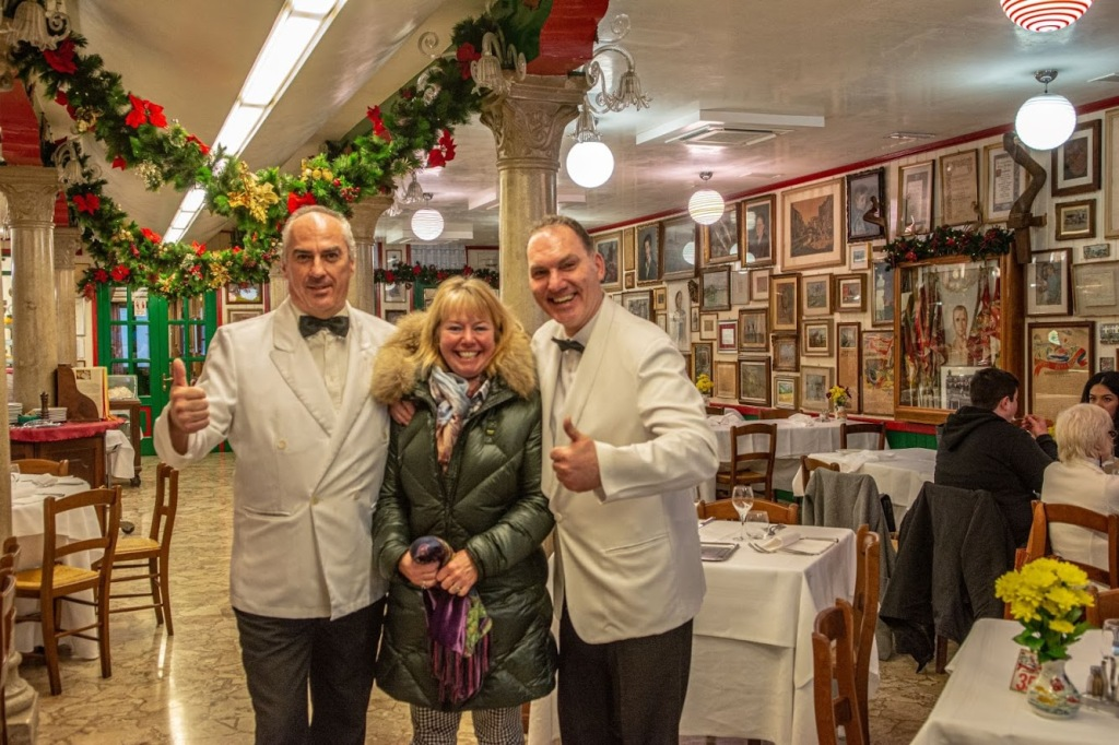 Da Romano - December, 2019, the waiters have all been here for decades, they are part of the family.