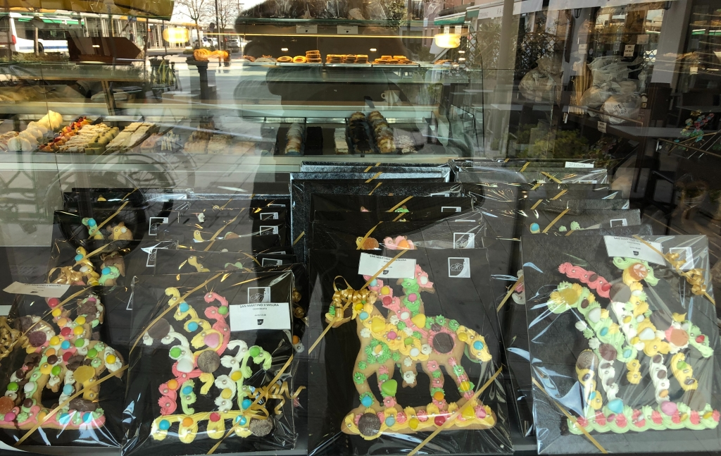 San Martino - the shops are filled with these delicious, richly decorated confections.