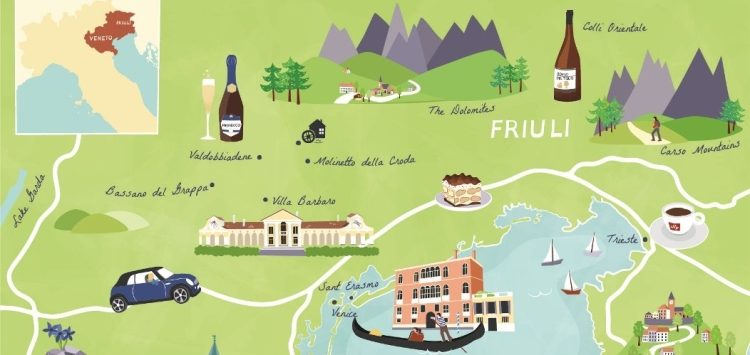 The Educated Traveller our unique map of the Veneto region commissioned by our sister company: www.grand-tourist.com