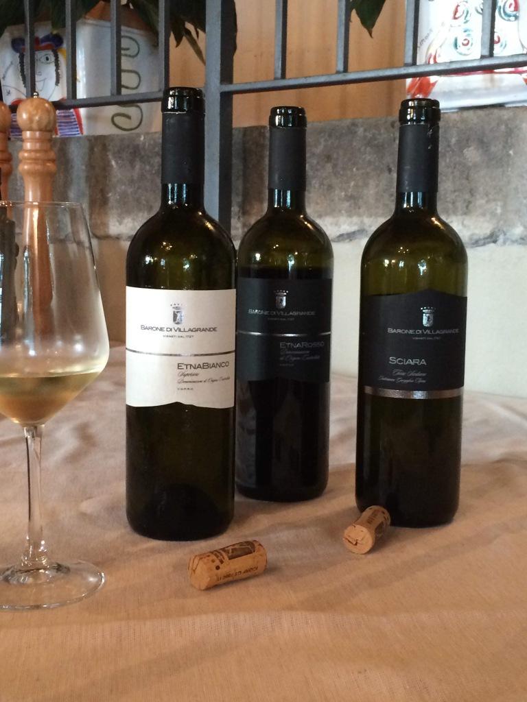 A wine tasting on the slopes of Mt Etna