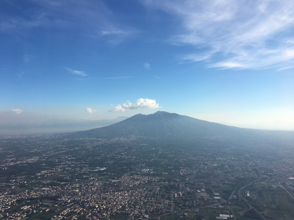 Vesuvius dominates the Bay of Naples, a vast brooding active volcano that has shaped the landscape of this whole area