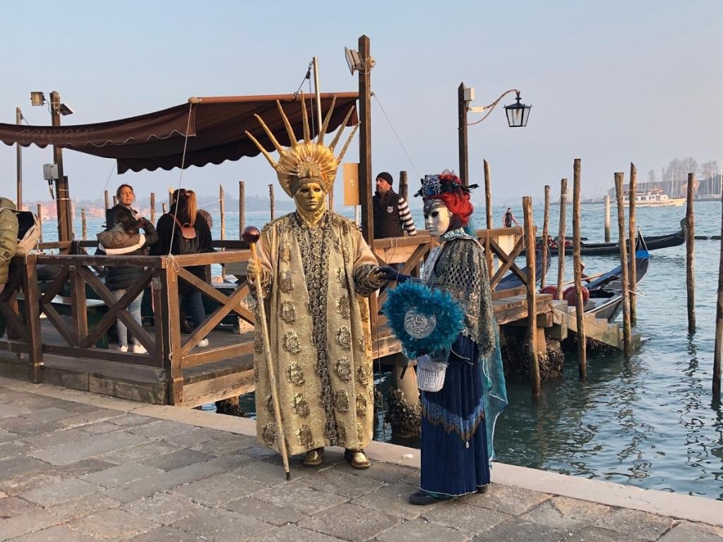 Venezia Carnevale - fabulous costumes are everywhere. Photo www.educated-traveller.com