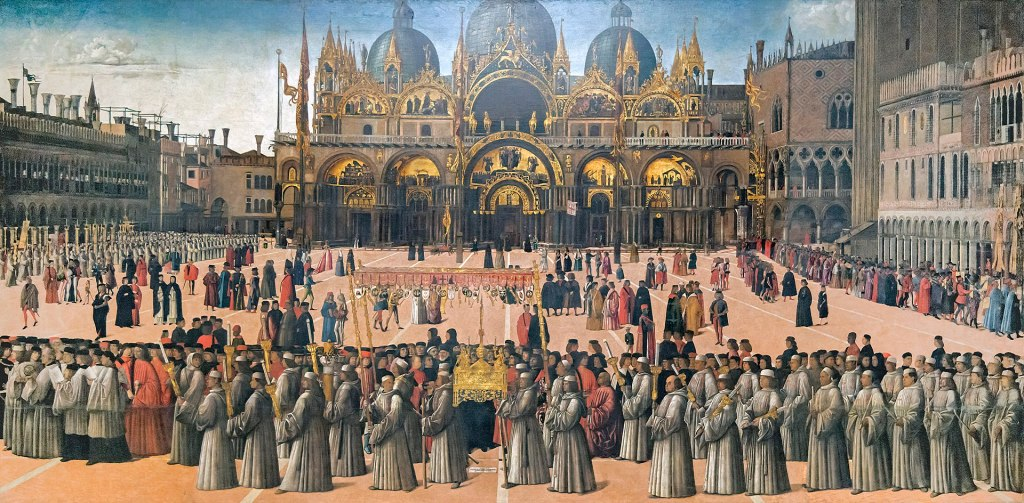 Accademia - Procession in piazza San Marco by Gentile Bellini