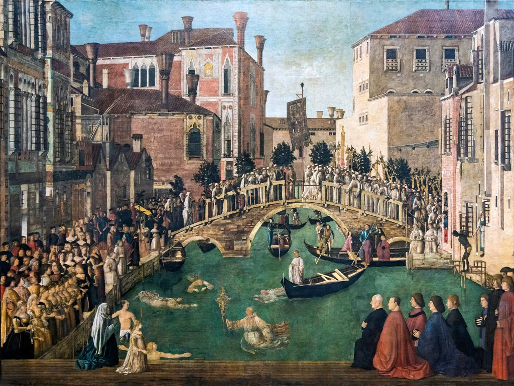 Accademia - Miracolo della reliquia della Croce al ponte di San Lorenzo - Gentile Bellini