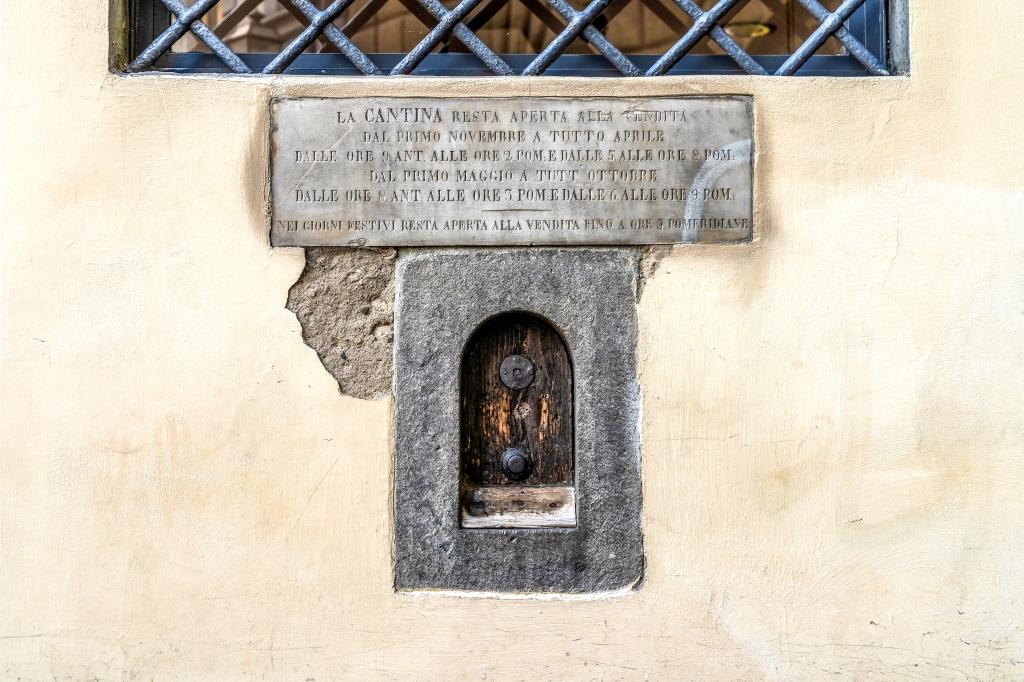 Florence - A Wine Window (buchetta) - image: shutterstock_1818208106