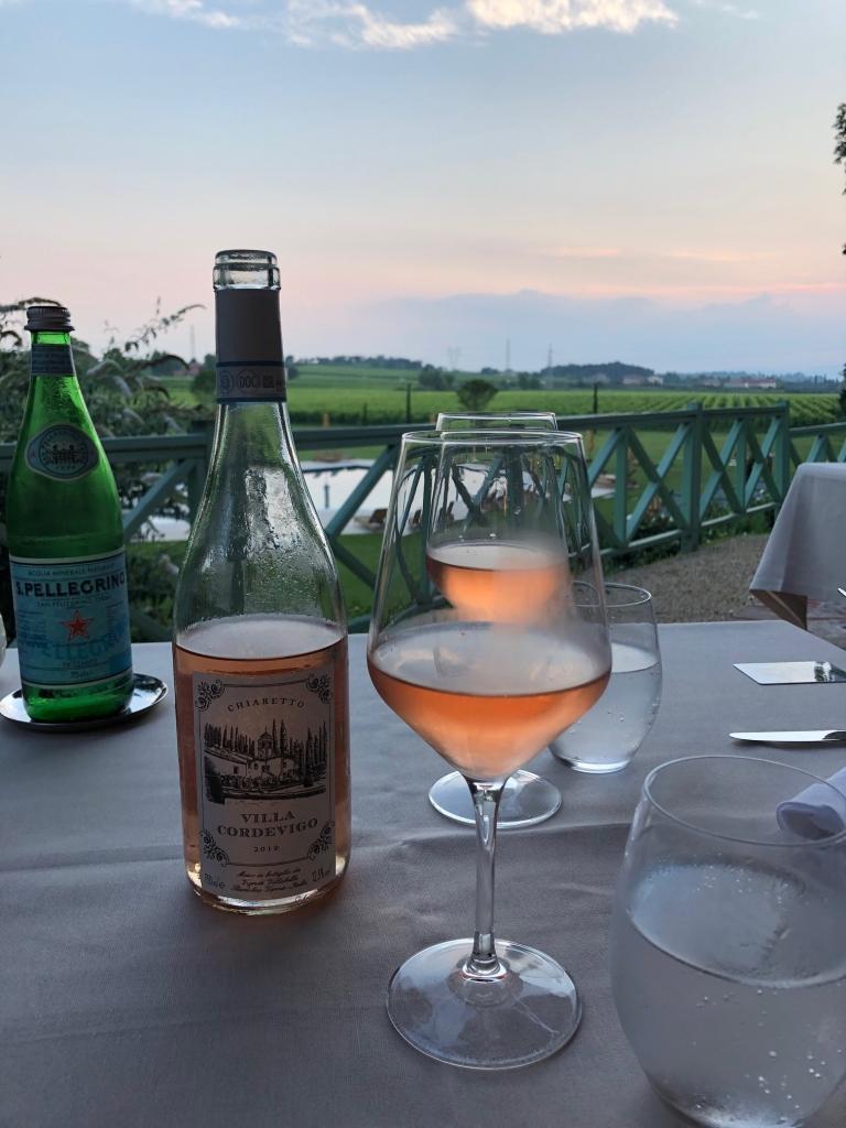 Villa Cordevigo - rose wines at sunset - divine