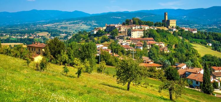Poppi - medieval village in the Upper Arno Valley, Toscana