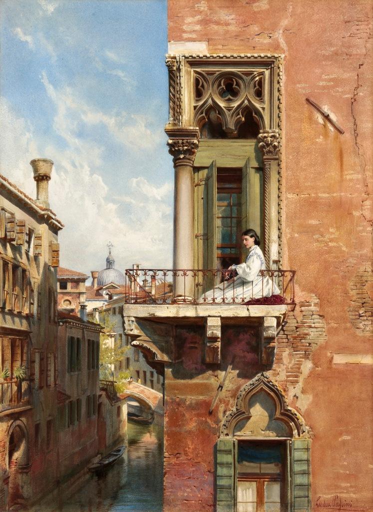 Venezia - Palazzo Priuli - Anna Passini by artist Ludwig Passini