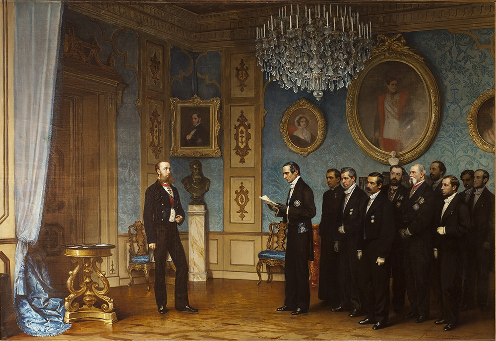 Miramare - 1863, a delegation of worthies arrive to offer Maximilian the prestigious position of Emperor of Mexico