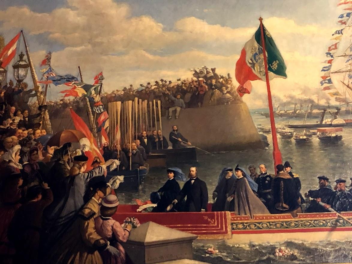 Miramare - Departure of Massimiliano and Carlotta for Mexico