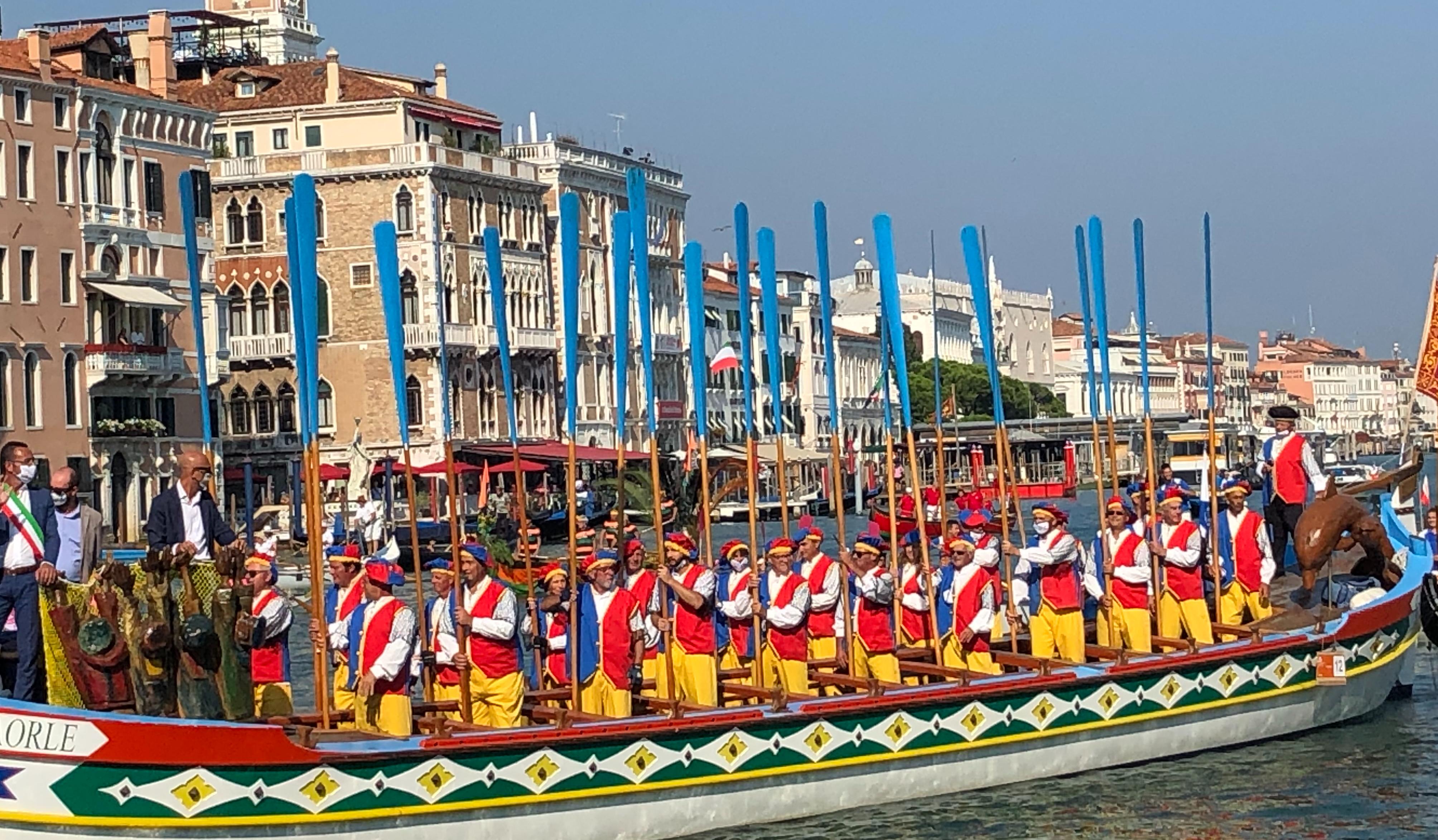 Citta di Caorle - a ceremonial boat, used in parades - Regata Storica 2020