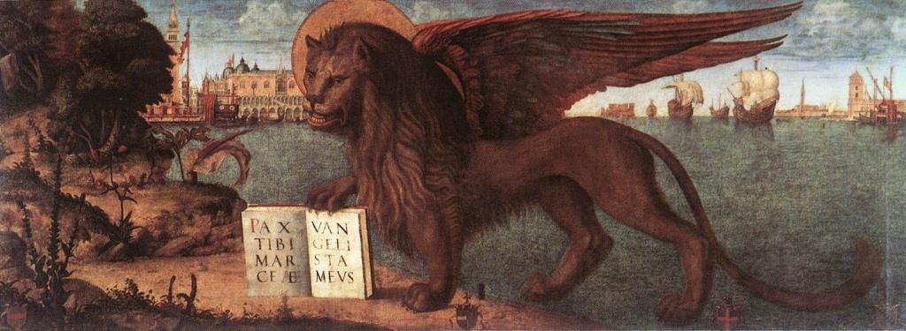 Vittorio Carpaccio - Winged Lion of St Mark's hangs in the Palazzo Ducale, Venezia